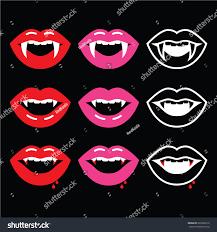 Vampire Teeth Vampire Mouth Vampire Teeth Icons On Stock Vector 220292212