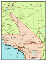 Arizona California Map by Jurisdictional Map Southern California Pipe Trades District