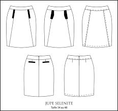 patron couture sac cabas patron jupe 3 variantes sélénite du 34 au 48 couture