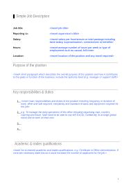 2017 job description template fillable printable pdf u0026 forms