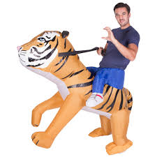 Inflatable Tiger Fancy Dress Costume Zoo Animal Suit Hen Stag