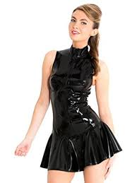 black dress uk honour women s dress in black rubber glamazon play