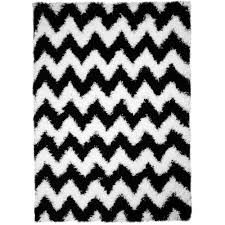 Black Chevron Area Rug Decorating Chic Luxurious Soft Shag Black White As Chevron Area