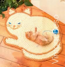 instant download pdf pattern cat rug crochet pattern kitty