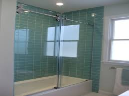 inspirational aquatic blue bathroom wall tiles with glass shower