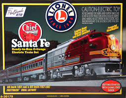 lionel o 6 30178 santa fe chief passenger set with