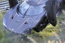 koenigsegg one 1 blue update koenigsegg one 1 destroyed in nurburgring crash hypercar