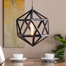 Geometric Pendant Light by Lecava Geometric Cage Pendant Lamp Southern Enterprises Inc