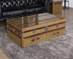 brass trunk coffee table vintage brass trunk coffee table