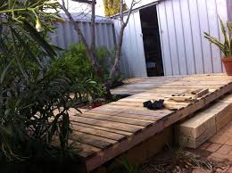 Backyard Decks Pictures Wood Pallet Backyard Deck 4 Steps With Pictures
