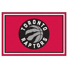 Area Rugs Okc by Fanmats Nba Toronto Raptors Red 5 Ft X 8 Ft Indoor Area Rug 9419