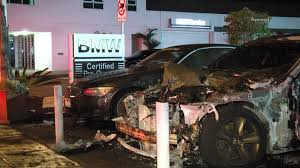 bmw dealership cars bmw dealership in santa monica loses cars to apparent arson