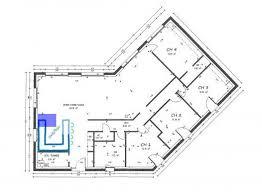 plan maison plain pied 3 chambres 100m2 plan maison en l 100m2 de finest design d with con e rectangulaire