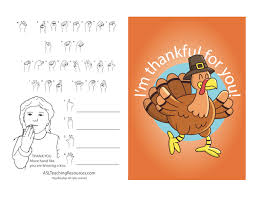 thanksgiving cards with sign language free downloads asl