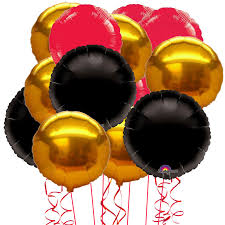 inflated helium balloons delivered 15 inflated gold and black foil party balloons not just