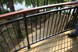 deck railing horizontal deck and railing made from composite with