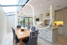 Extensions Kitchen Ideas Side Return Kitchen Extension With Sloping Glass Roof In Fulham
