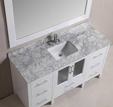 stanton 60 u2033 single sink vanity set with marble top in white and