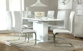 Gloss White Dining Table And Chairs Gloss White Dining Table Black Gloss Dining Table 6 Chairs Black