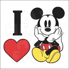 i heart love mickey mouse instant download digital clip art my