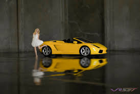 convertible lambo female model yellow lamborghini gallardo convertible miniature effect