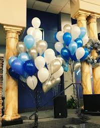 bulk balloon delivery 80 bulk helium balloons blue theme party stop