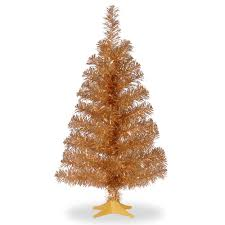 national tree company 2 ft chagne tinsel artificial