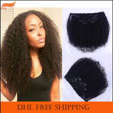 pics of black woman clip on hairstyle african american clip in curly hair extensions for black women 7a