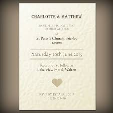 50 personalised wedding evening invitations with envelopes