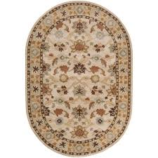 Oval Area Rugs Artistic Weavers Beige 6 Ft X 9 Ft Oval Area Rug Jhn 1010