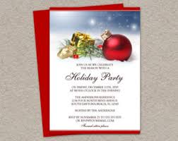 Christmas Party Invitations With Rsvp Cards - christmas or holiday party invitation with rsvp card