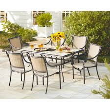 Patio Dining Chairs by Hampton Bay Andrews 7 Piece Patio Dining Set Shop Your Way