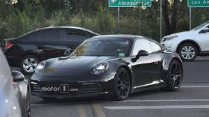 porsche gray porsche 911 spied with almost all digital instrument cluster