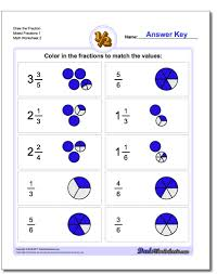 writing mixed fractions worksheets fraction worksheets math