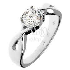 snubny prsten snubný prsteň zo striebra 925 okrúhly zirkón v prepletaných