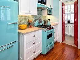 White And Blue Kitchen - red white and blue kitchen decor with modern kitchen appliances