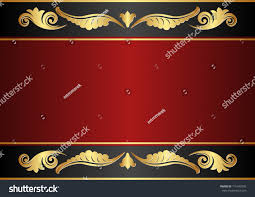 maroon black background gold ornaments stock vector 116443393