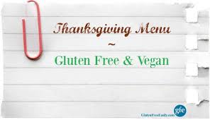 a gluten free vegan thanksgiving menu recipes in every category