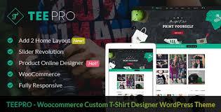 teepro woocommerce custom t shirt designer wordpress theme by