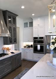 pics of kitchens with white cabinets and gray walls remodelaholic grey and white kitchen cabinet ideas