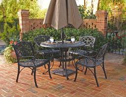 5 Pc Patio Dining Set Home Styles Biscayne 5pc 48 Outdoor Patio Dining Set W Black Finish