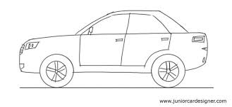 car drawing for kids on clipart library car drawings how to