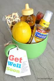 get well soon gift ideas get well soon gift basket with free printable tag