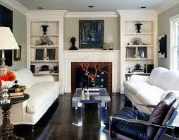Transitional Interior Design Ideas by Decorating Ideas For Bookcases By Fireplace Living Room