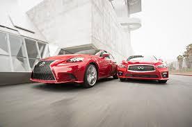 lexus nx 200t vs infiniti qx60 2014 infiniti q50s vs lexus is350 f sport motor trend