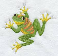 clinging tree frog design a1032 from emblibrary com