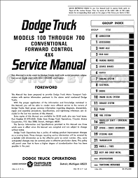 1965 dodge 100 700 pickup u0026 truck repair shop manual reprint