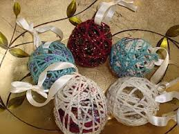 yarn ornament yarn balloon glue ribbon scouts