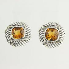 citrine earrings david yurman citrine earrings sterling silver 14k yellow gold