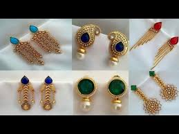 earring gold new gold earring designs gold earring designs for dailywear